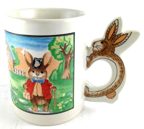 Peter Cotton Tail Rabbit Handle Easter Mug Ceramic Collectible cup