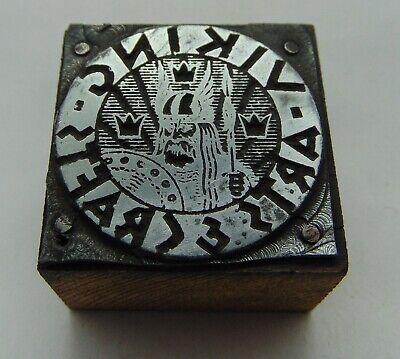 Vintage Printing Letterpress Printers Block Viking Arts Crafts