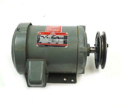 Dayton Tri-volt 3n729 Electric Motor 1 Hp 3 Phase 1755 Rpm 143t Pulley Frame