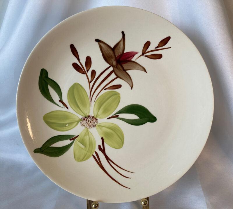 Vintage Blue Ridge Southern Potteries Dinner Plate Floral Pattern Handpainted