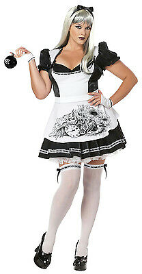 Dark Alice Plus Size Adult Costume Size 2XL (18-20) (Dark Alice Costume Plus Size)