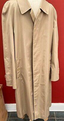 MEN'S Vintage XLarge Burberry Trench Rain Coat Long Mac Overcoat 52 Regular