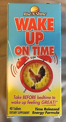 Wake Up On Time - Best Selling Alarm Clock in a Pill Supplement by