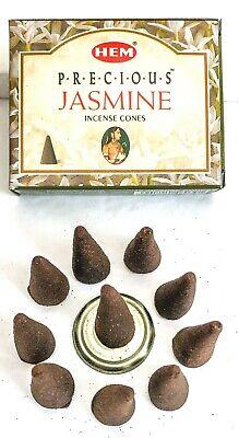 Hem Precious Jasmine Incense Cones - Pick 10-20-30-50-100-120 Free Shipping!