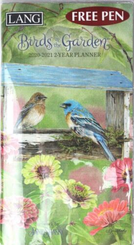 2020-2021 Lang Birds in the Garden 2-Year Monthly Pocket Planner by Jane Shasky