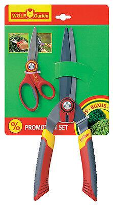 Wolf Garten Set Scissors Buxus-Set Universal Boxwood Pruning Shears Buxusschere