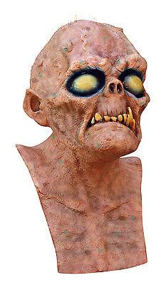 Herren unheimliche Latex Halloween Maske Deluxe Alien Horror Kostüm Trog (Deluxe Alien Kostüme)