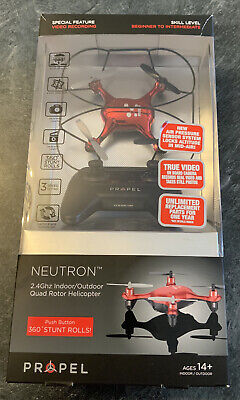 Propel RC Neutron Helicopter Drone Quad Rotor HD Camera 2.4GHz - Hardly Used