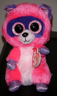 """Ty Beanie Boos ~ ROXIE the 6"""" Raccon ~ NEW Plush Toy ~ MINT with MINT TAGS"""