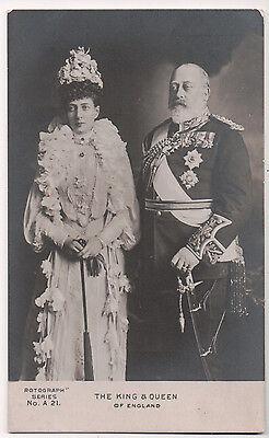 Vintage Postcard King Edward VII of England & Queen Alexandra