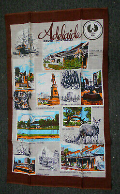#KK2.   ADELAIDE, SOUTH AUSTRALIA,   SOUVENIR  TEA TOWEL
