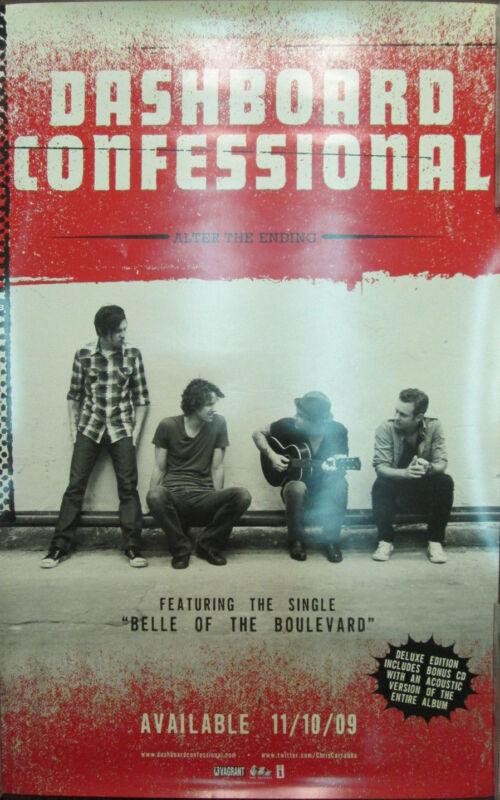 DASHBOARD CONFESSIONAL Alter Ending, orig promotional poster, 2009, 14x22,EX,emo