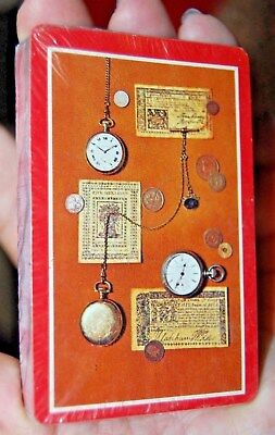 Unopened Vintage Deck of Cards Pocket Watch Coins Design Western Publishing USA