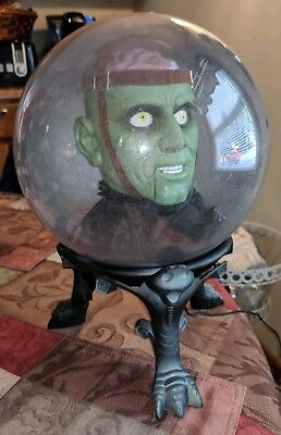 Gemmy Monster Spirit Ball Animated Head Talking Halloween Works RARE HTF - Halloween Monster Ball