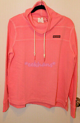 NWT Vineyard Vines Garment Dyed Funnel Neck Shep Shirt Pullover Neon Pink -
