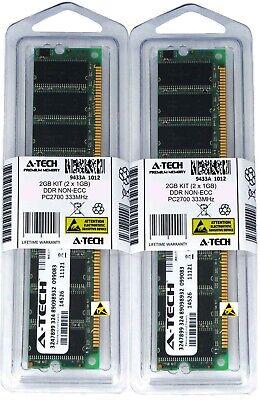 1g 1gb 333mhz Ddr Pc - A-Tech 2GB 2 x 1GB PC2700 Desktop DDR 333 MHz 184-pin DIMM DDR1 Memory RAM 2G 1G