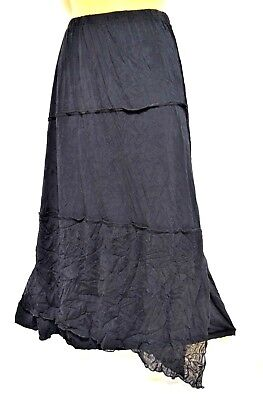 TS skirt TAKING SHAPE plus sz XS / 14 Boho Tiered Skirt black stretch sexy NWT!