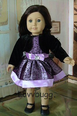 "Lovvbugg Purple Passion Dress w Jacket for 18"" American Girl Doll Clothes"