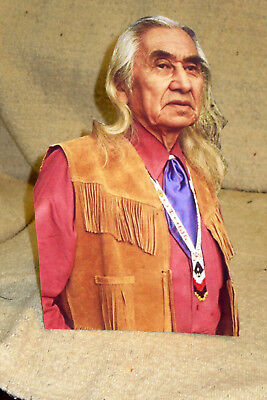 "Chief Dan George Native American Actor Rare Photo, Beautiful Color Standee 10.5"""