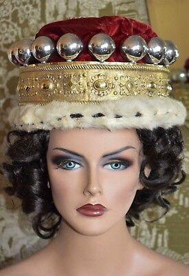 FINE Antique Viscount Coronet Crown London 1819 Georgian Gilt Sterling Silver