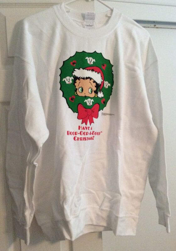Collectable Betty Boop Long Sleeved Lighted Christmas Sweatshirt - NEW