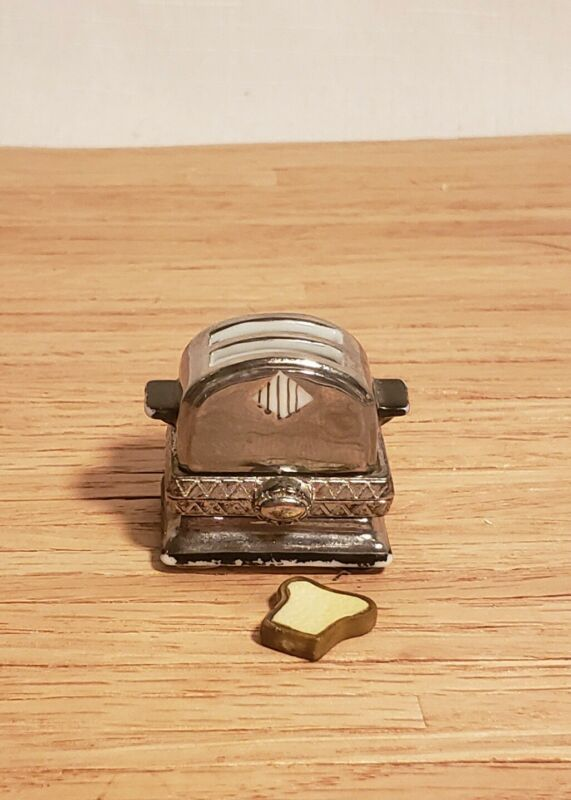 PHB Collection Toaster Hinged Trinket Box Porcelain