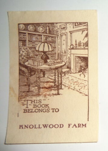 Knollwood Farm - Ex-Libris Bookplate