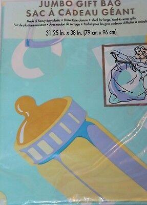 American Greetings Baby Jumbo Large Gift Bag w/ Cord Tie  31.25 x 38