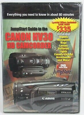 JumpStart Video Training Guide on DVD for Canon HV30 HD Camcorder NEW SEALED Jumpstart Video Training Guide