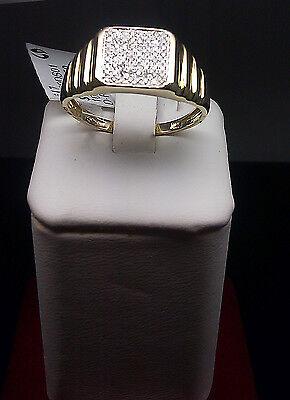 New 10K Yellow Gold,0.20 CT Diamond,Watch Band Design Men