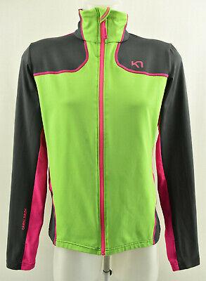 KARI TRAA Womens Active Top Long Sleeve Zip Neck Jacket Stretch Running Size L