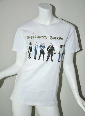 UNFORTUNATE PORTRAIT WHITE Insecurity Guard short sleeve tshirt sz S