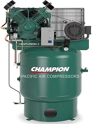THE BEST 7.5hp Two Stage Single Phase 80Gal Vertical Champion Air Compressor