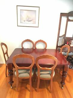 Large Antique Red Cedar Dining Table
