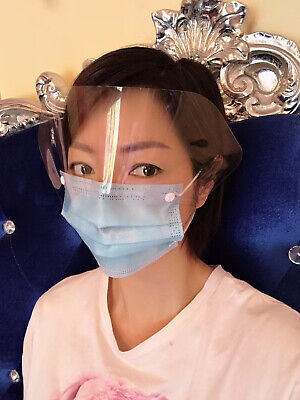 Protective Face Mask with Eye Shield (20PC) Free Shipping from USA