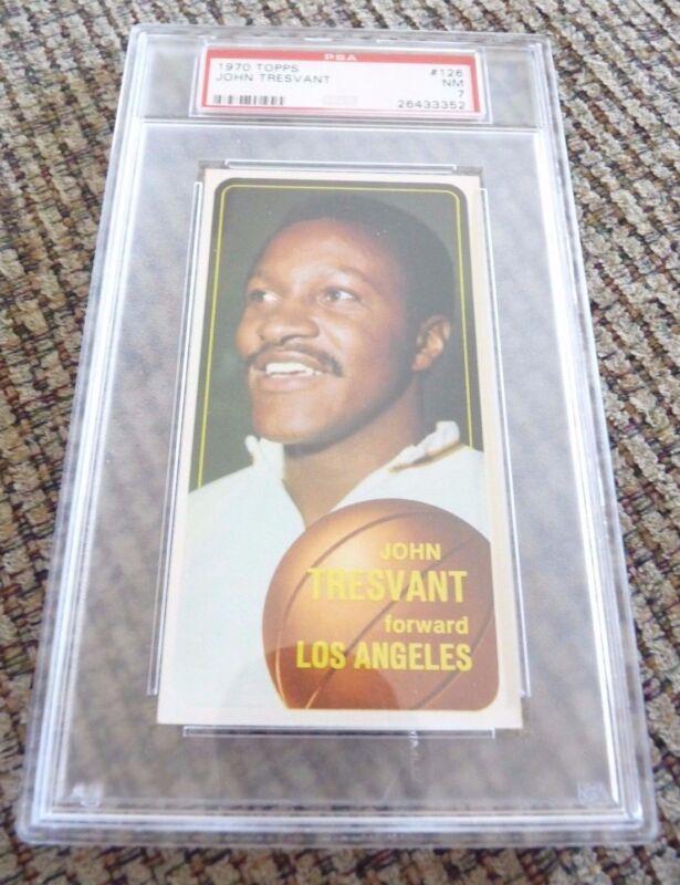 John Tresvant 1970 Topps Tall Boy #126 Basketball Card PSA Graded Slabbed NM 7