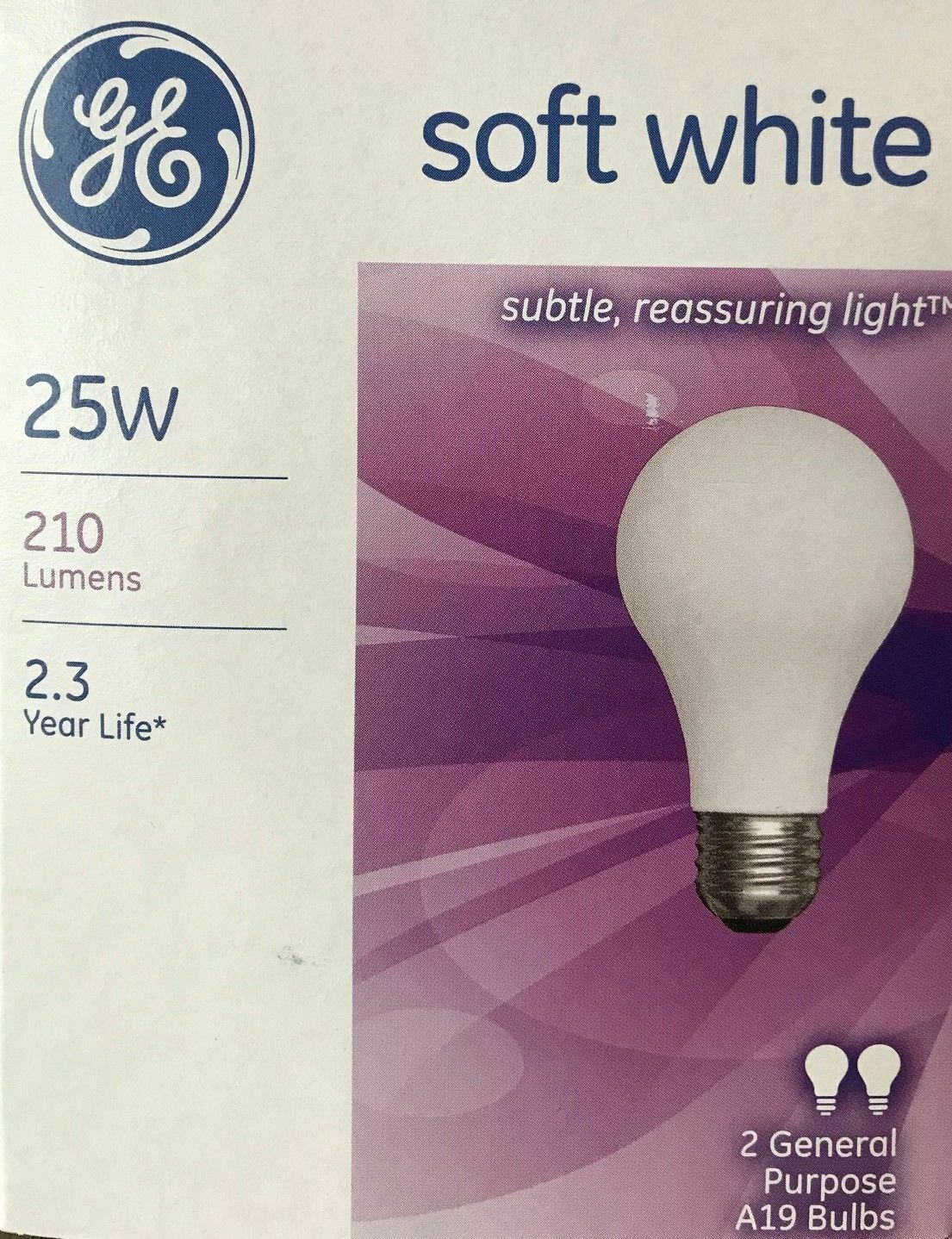 General Electric Ge Soft White Light Bulbs 25 W 210 Lumens A