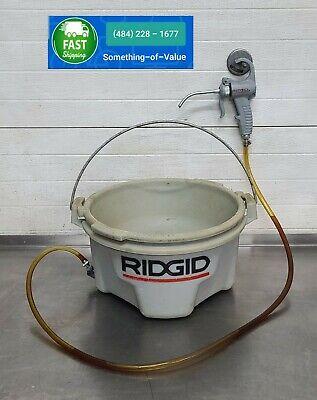 Ridgid 418 Handheld Oiler Bucket For 300 700 Threading Machine With Gun