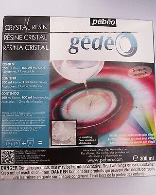 Pebeo Gedeo 300 mL Crystal Transparent Resin Damaged Packaging