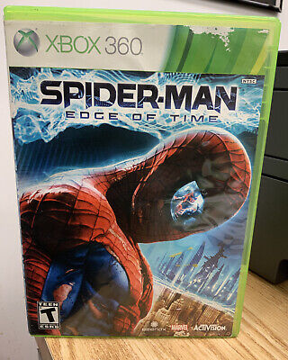 Spider-Man: Edge of Time (Microsoft Xbox 360, 2011) Game & Case Used Spiderman