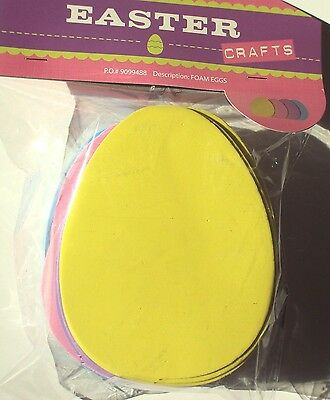 Egg Shaped Foam Sheets Multi Colored Easter Crafts 30 Pieces, NEW