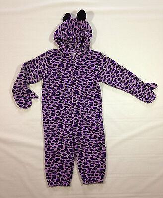 Halloween Costume Purple Leopard Purim Winter Outfit 12 24 mos Miniwear Fleece - Leopard Halloween Kit