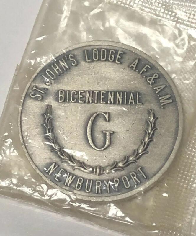 Vintage 1966 NEWBURYPORT Bicentennial Masonic SQUARE & COMPASSES Freemason TOKEN
