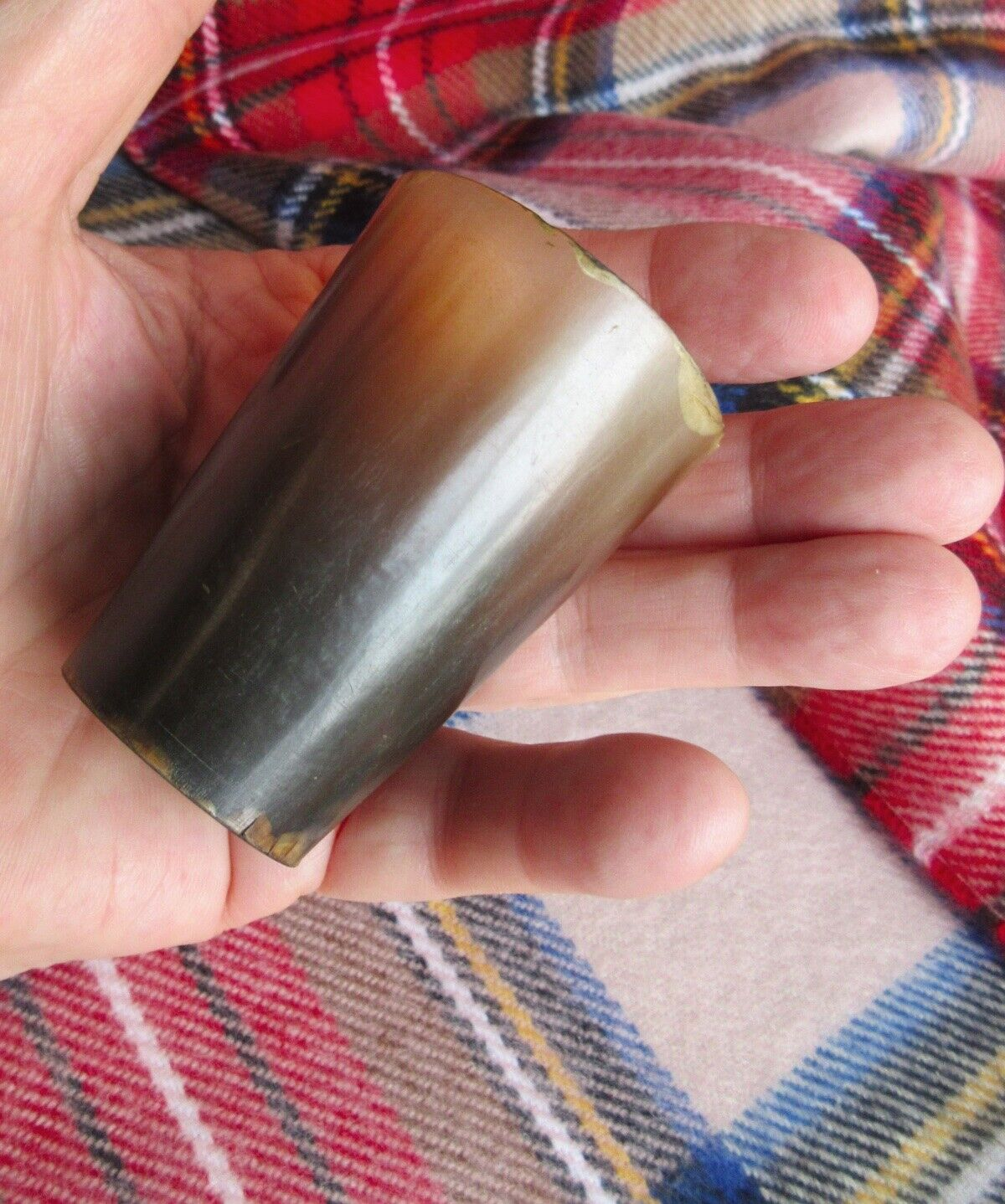 Antique Scottish Cow Horn Cup Shot Glass 2 1/2 Victorian Lady s Dram 15 - $36.00