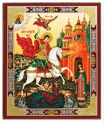 (Saint St George Dragon Icon 3