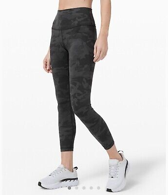 "Lululemon Wunder Under HR Tight 25"" Full-on Luon SZ 4 Camo Grey *NWT*"