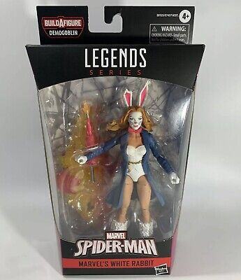 Marvel Legends Series Spider-Man Marvel's White Rabbit Figure BAF Demogoblin NEW