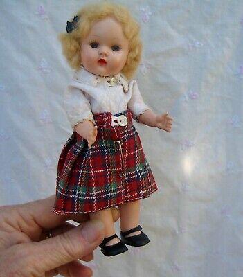 Vintage 1950s Miss Rosebud SCOTTISH  hard plastic doll