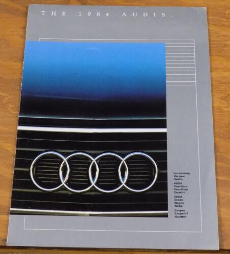 1984 AUDI Automobile Brochure // 4000S / Quattro / 5000S / Coupe GT