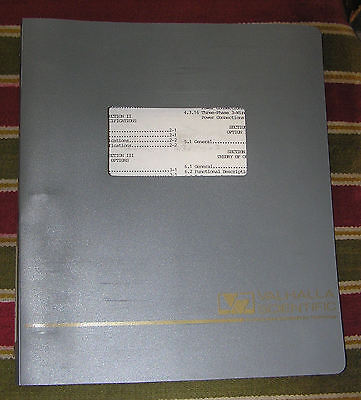 Valhalla Scientific Operating Maint Manual Model 2053a Digital Power Analyzer